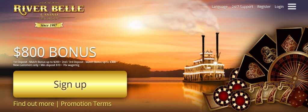 Bonuses and Promotions at River Belle Casino