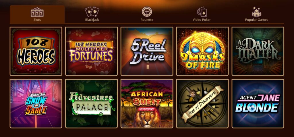 games for real money at River Belle Casino