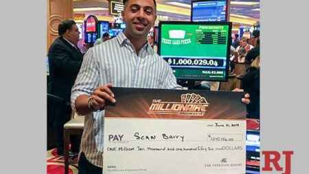 The $ 5 bet made the casino customer a millionaire